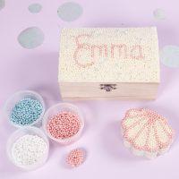 Smykkeskrin dekoreret med Pearl Clay