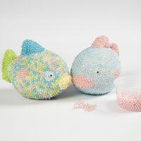Styropor fisk dekoreret med Pearl Clay