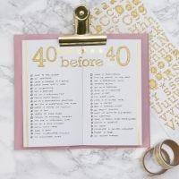 Bucket liste i Bullet journal og planner