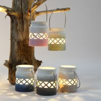 Lanterner malet med farvegraduering