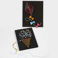 3D billeder med String Art