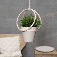 Ampel lavet med bambusringe