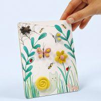 Billlede med naturmotiv dekoreret med Silk Clay
