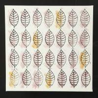 Blade på lærred lavet med stempeltryk