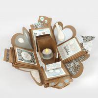 Explosion box dekoreret til fødselsdag