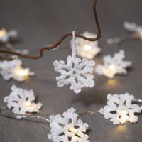 Hæklede snefnug i bomuldsgarn