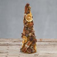 Kegle dekoreret med sisal og naturmaterialer