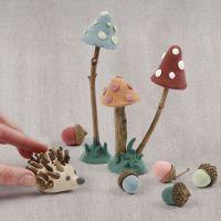 Skovbund af Silk Clay og natur artikler