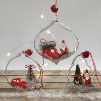 Juleophæng med mini figurer i udstiksforme