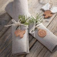 Julefigur af selvhærdende ler til pynt og ophæng