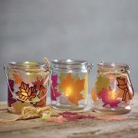 Lanterner med udstansede blade