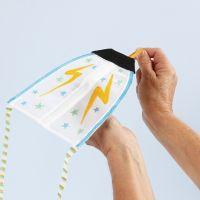 Drageflyver dekoreret med tekstiltusch