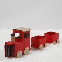 Juletog af mælkekartoner og genbrugspap
