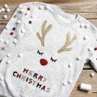 Sjov julesweater med bjældeklang