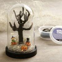 Halloween mini landskab i klokke