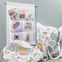 Tekstiler dekoreret med tusch