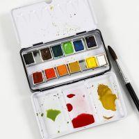 Sådan blander du akvarelfarver