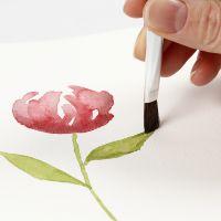 Sådan maler du akvarel med glidende strøg