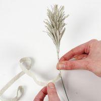 Sådan laver du græs eller gran i crepepapir (frynse/-vikleteknik)