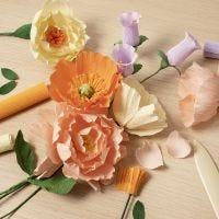 Crepepapirblomster for begyndere: Lær at lave papirblomster i crepepapir