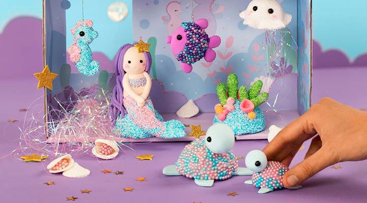 Kreative aktiviteter med bl.a. magiske havfruer i Pearl Clay